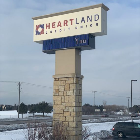 Heartland Credit Union Exterior Signage by Schad Tracy